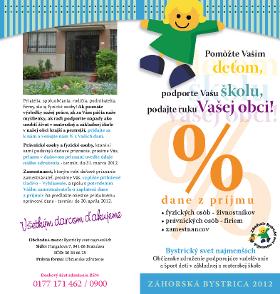 18581dc3f MŠ Záhorská Bystrica - OZ BSN - % dane z Vášho príjmu - Ďakujeme ...